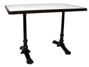 Metal frame dining tables